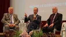 Becker, Schmidt und Kiefer bei der berufspolitischen Diskussion in Meran. (Foto: diz/DAZ)
