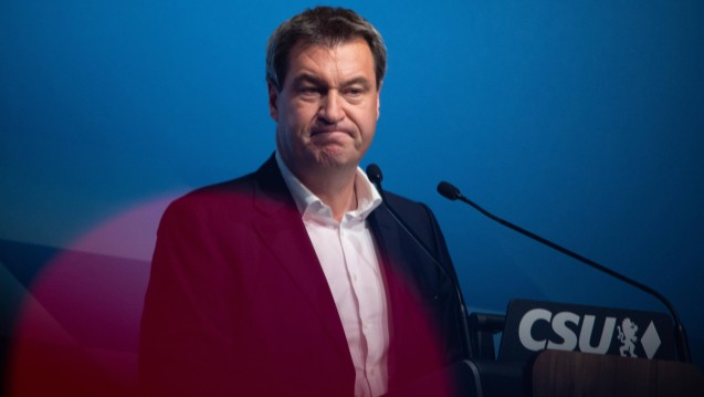 Bayerns Ministerpräsident Markus Söder (CSU) ärgert sich über das schlechteste Ergebnis seiner Partei bei einer bayerischen Landtagswahl. (Foto: Imago)