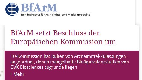 Weitere Generika-Zulassungen müssen in Deutschland ruhen