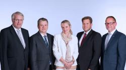 Das neue MVDA-Präsidium: Klaus Lieske, Dr. Holger Wicht, Gabriela Hame-Fischer,  Dr. Sven Simons und Dirk Vongehr (v.l.). ( r / Foto: MVDA)