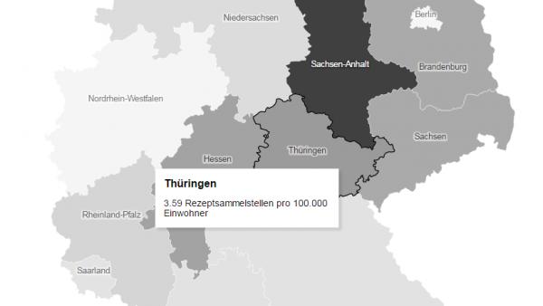 Hier sind Deutschlands Rezeptsammelstellen