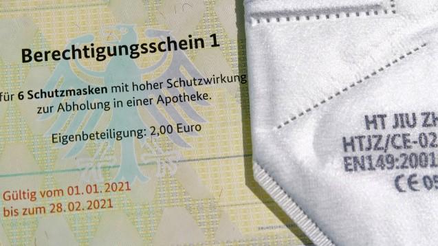 Was hat die Schutzmaskenausgabe an Risikogruppen und ALG II-Empfänger den Bund gekostet?(Foto: IMAGO / Jürgen Held)