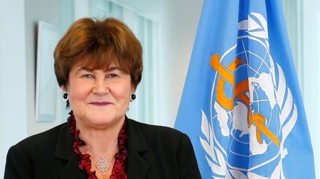 Flüchtlinge: Die Regionaldirektorin für Europa der WHO, Zsuzsanna Jakab, sagt Unterstützung zu. (Foto: WHO/Franz Henriksen)