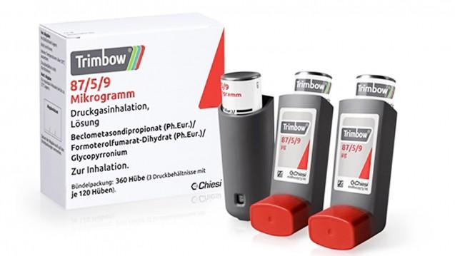 Der erste Inhalator, der LAMA, LABA und ICS kombiniert: Trimbow®. (Foto: Chiesi)