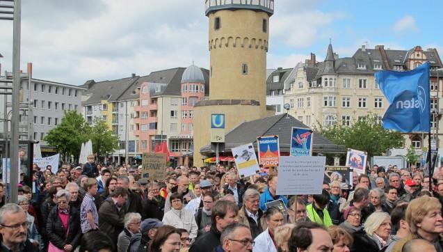 Dem March for Science schlossen sich in Frankfurt rund 2500 Personen an. (Foto: Veranstalter)