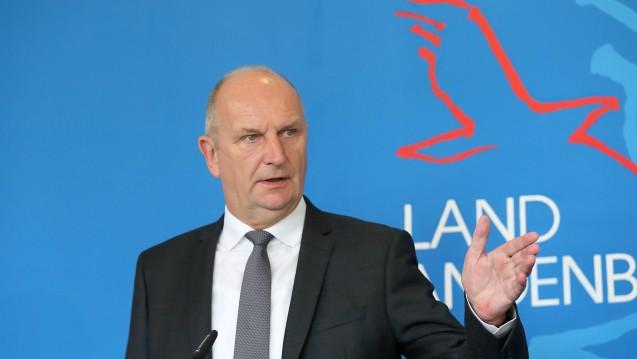 Brandenburgs Ministerpräsident Woidke äußerte seine Betroffenheit angesichts der Lunapharm-Affäre. (c / Foto: Imago)