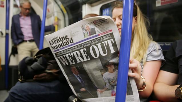 We're out: Nach dem Mehrheitswillen der Briten wird das Land die EU verlassen. Ausländische Ärzte ziehen bereits die Konsequenzen – und in andere EU-Länder. (Foto:dpa / picture alliance)