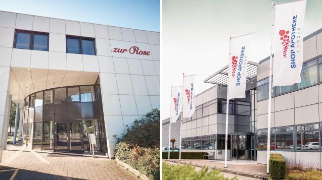 Zur Rose und Shop Apotheke. Die beiden Versand-Platzhirsche im Vergleich. ( r / Fotos: Zur Rose | Shop-Apotheke)