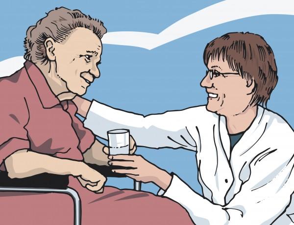 Eine Patientin nach Herzinfarkt