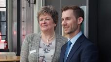 Kammerpräsidenten Magdalene Linz und Christopher Jürgens, der neu gewählte Vize-Präsident.