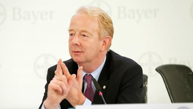 Gelungener Abschied: Bayer-Vorstand Marijn Dekkers auf der Bilanzpressekonferenz. (Foto: Bayer AG)