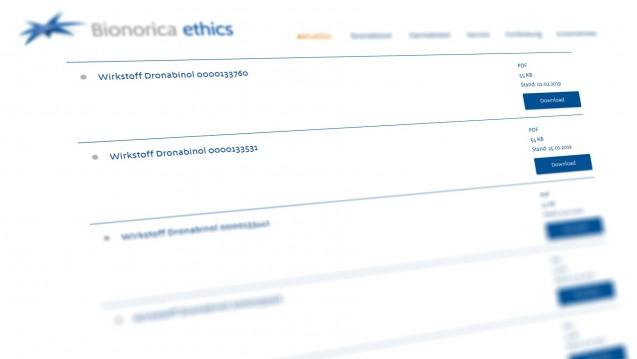 Bei Bionorica ethics sind die Analysenzertifikate nun online abrufbar. (Abbild: bionorica-ethics.de)