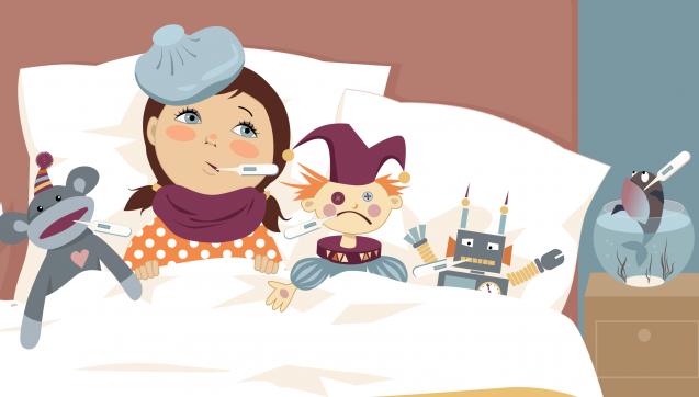 G wie Grippe: Erkältungen werden von einigen Kunden gerne auch als Grippe bezeichnet. Korrekt ist das natürlich nicht. Denn die echte Grippe (Influenza) unterscheidet sich grundlegend von einer Erkältung. (Ill.: aleutie / stock.adobe.com)