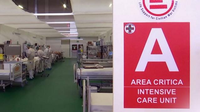 In drei Krankenhäusern in Norditalien sollen etwa 160 Patienten, die unter lebensbedrohlichen klinischen Manifestationen von COVID-19 leiden, mit dem Sphingosinkinase-2 (SK2)-Inhibitor Opaganib behandelt werden. (c / Foto: imago images / ITAR-TASS)