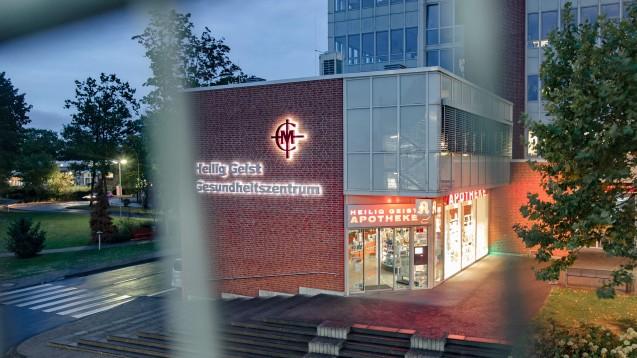 Toxisch verunreinigter Glucosetoleranz-Test: Zunächst sollte nur die Heilig Geist Apotheke in Köln betroffen sein, sie blieb aber geöffnet. Nun wurden sie, die zugehörige Haupapotheke und eine weitere Filialapotheke geschlossen. (Foto: picture alliance / Marcel Kusch / dpa)