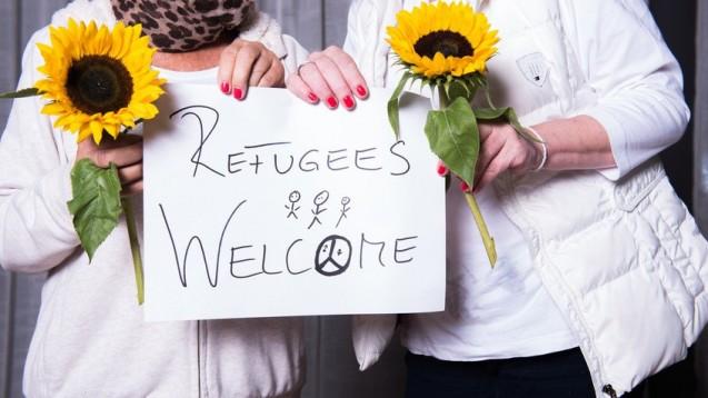 Flüchtlinge willkommen: Die Hilfsbereitschaft in Deutschland ist groß. (Foto: Jürgen Hüls/Fotolia)