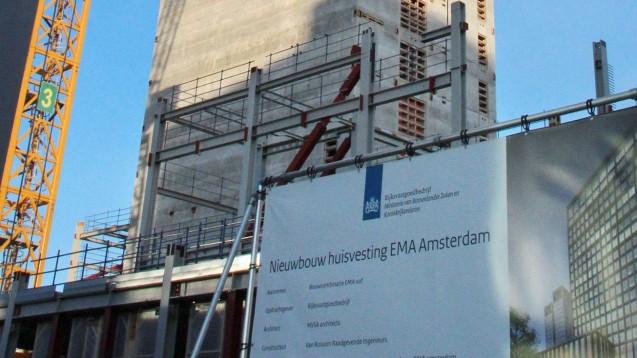 Der Neubau der EMA im Januar 2019 in Amsterdam. (Foto: imago images / Kyodo News)