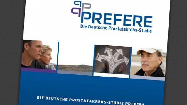 Die PREFERE-Studie droht zu scheitern. (Screen: prefere.de)