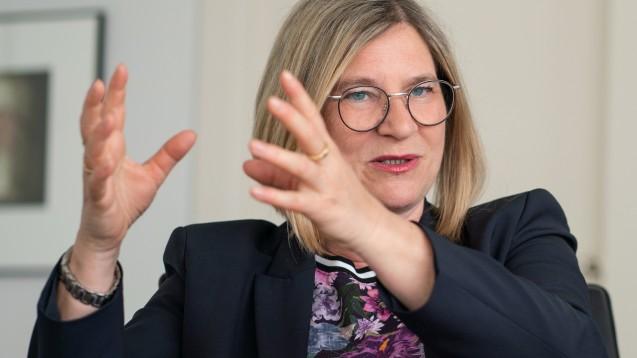 Sabine Nikolaus, Deutschland-Chefin von Boehringer Ingelheim, mahnt die Politik an, entschlossener gegen Arzneimittel-Lieferengpässe vorzugehen. (Foto: dpa)