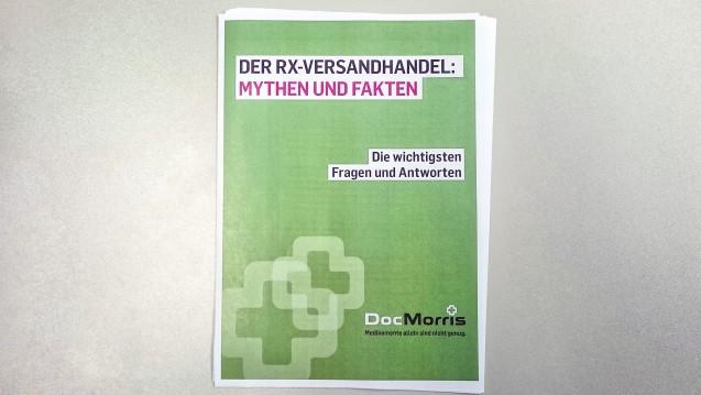 Broschüre zum Versandhandel: Die EU-Versandapotheke DocMorris verschickt an Bundestagskandidaten derzeit eine Informationsbroschüre zum Versandhandels-Konflikt. (Foto: DAZ.online)