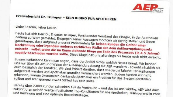AEP wundert sich über Trümper