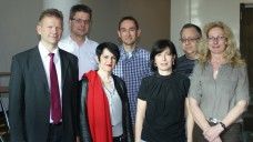 Der AVMV-Vorstand (v.l.): Axel Pudimat, Kristian Frankenstein, Andrea Nowotny, Matthias Ratke, Petra Kokel, Thomas Müller, Birka Zander. (Foto: Müller-Bohn)
