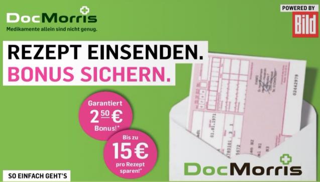 """Diese Woche startete DocMorris eine Kooperation mit dem Boulevardblatt""""Bild"""" und bietet dessen Lesern einen Extra-Rabatt von 7,50 Euro an, wenn sie als Neukunden bei der niederländischen Versandapotheke bestellen. Gleichfalls wurde bekannt, dass das Saudische Königsfamilie inzwischen Anteilseigner bei der DocMorris-Mutter ist– der Versandapotheke Zur Rose. (Screenshot: DAZ.online)"""