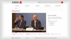 Nachrichten selbst gemacht: Die ABDA hat am heutigen Montag ihren lange angekündigten Newsroom freigeschaltet, mit dem sie den Nachrichtenfluss im Apothekenmarkt stärker kontrollieren möchte. (Screenshot: DAZ.online)