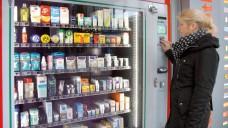 Kommt gut an: Ein Apotheker im nordrhein-westfälischen Hagen betreibt vor seiner Apotheke einen Abgabeautomaten für Pflaster, Kondome, etc. Bei seinen Kunden kommt das gut an. (Foto: privat)