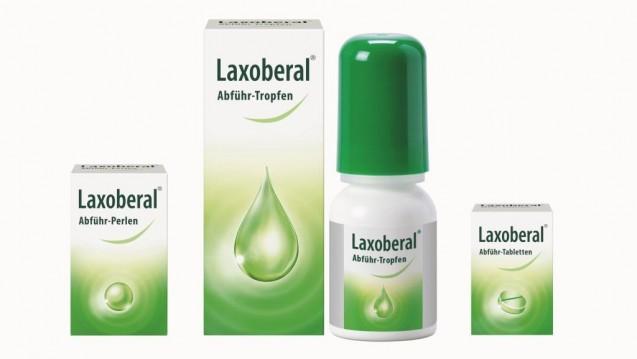 Immer noch grün, aber anders grün sind die neuen Packungen von Laxoberal. (Foto: Sanofi)