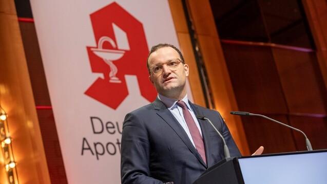 Bundesgesundheitsminister Jens Spahn (CDU) beim deutschen Apothekertag in Düsseldorf. (s / Foto: Schelbert)