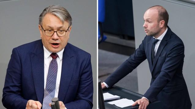 Georg Nüßlein und Nikolas Löbel bringen die Union in Bedrängnis. (Fotos: IMAGO / Future Image |Christian Spicker)