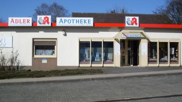 Die Adler Apotheke im nordrhein-westfälischen Kierspe schließt Ende Mai. Der Grund: Es wurde kein Filialleiter gefunden. (Foto: privat)