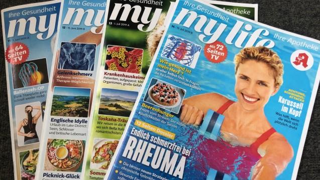 """Knapp über eine Millionen Exemplare des Apotheken-Kundenmagazins """"my life"""" werden laut IVW pro Monat verkauft. (m / Foto: jb / DAZ.online)"""