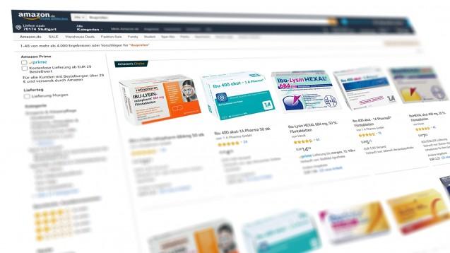 Amazon ist einer der Big Player im Internet-Handel. Wie können sich daneben spezielle Apotheken-Plattformen etablieren? (Abbildung: amazon.de)