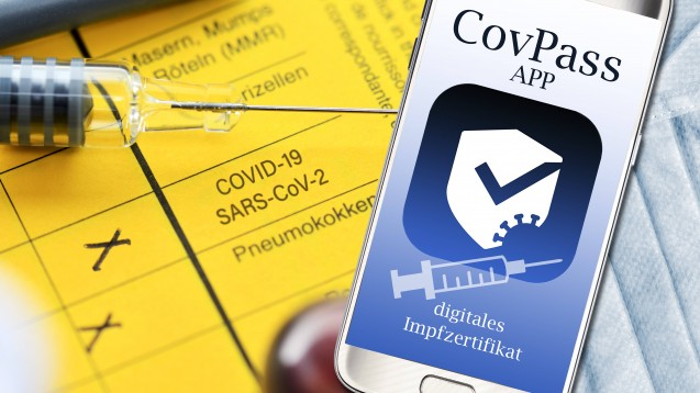 Beim Erstellen digitaler COVID-19-Impfzertifikate besteht das Bundesministerium für Gesundheit auf eine haptische Prüfung des analogen Impfnachweises. (Bild: IMAGO / Christian Ohde)
