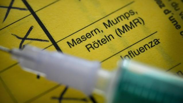 Es besteht nach Ansicht von BMG-Staatssekretärin Sabine Weiss (CDU) kein Bedarf an monovalenten Masernimpfstoffen. (s / Foto: imago images / Schöning)