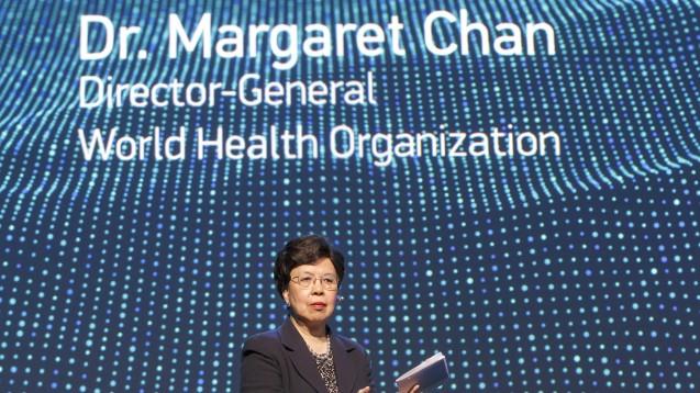 WHO-Generaldirektorin Margaret Chan verkündet Erfolge im Kampf gegen tropische Krankheiten. (Foto: picture alliance / AP Photo)