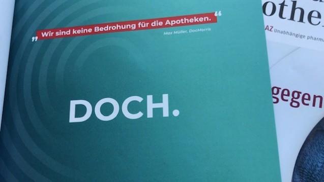 Ganzseitige Anzeigen in der Fachpresse sollen auf den Zukunftspakt aufmerksam machen. (c / Foto: DAZ.online).