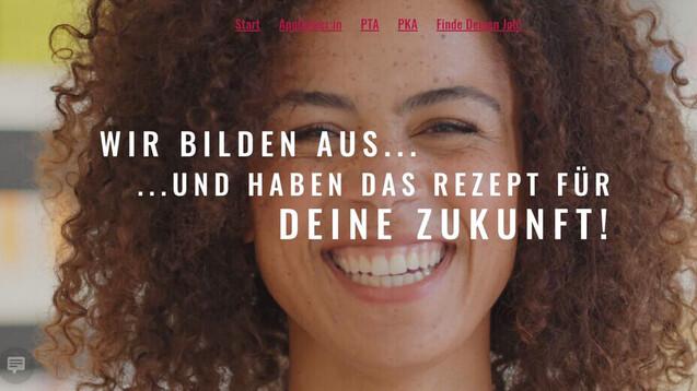 """Wer auf die Website """"Karriere-auf-rezept.de"""" klickt, sieht das lachende Gesicht der pharmazeutisch-technischen Angestellten Hannah. (s / Foto: Landesapothekerkammer Baden-Württemberg)"""