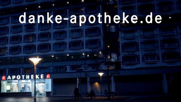 Ein Werbespot für die Apotheke vor Ort, der viel Aufmerksamkeit erregte: Danke, Apotheke. (Screenshot: DAZ.online)