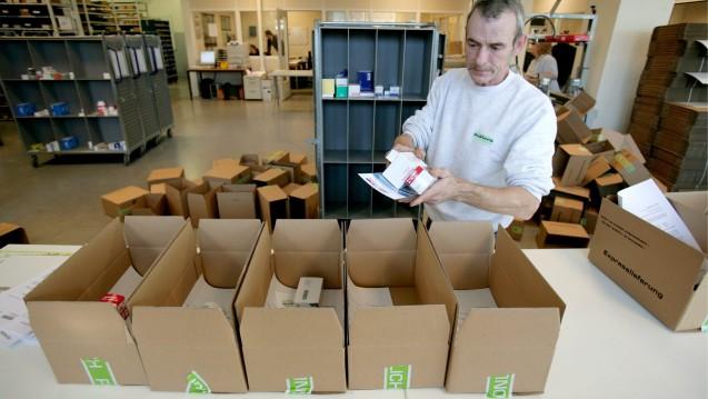 Weniger Rx-Pakete im 4. Quartal: Der EU-Versender DocMorris konnte seinen Umsatz im vergangenen Jahr zwar steigern, beim Rx-Geschäft gab es aber leichte Rückgänge. (Foto: dpa)