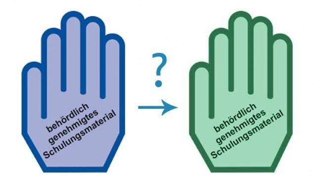 Ein Fehldruck hat die blaue Handbeim Notfall-Arzneimittel Jext®Adrenalin-Autoinjektor grün werden lassen. (m / Bild: jh / DAZ.online)