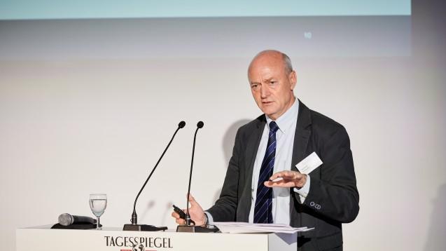 """Ex-BND-Chef Gerhard Schindler auf der Tagesspiegel-Veranstaltung """"Fachforum Gesundheit"""". (Foto: Robert Schlesinger, Der Tagesspiegel, Fachforum Gesundheit, 8.05.2019)"""
