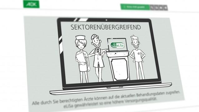 Das neue Arzneimittelprojekt der AOK Nordost heißt eLisA, bietet einen Medikationscheck an und lässt Apotheker aus. (Screenshot: AOK Nordost / aok.de)