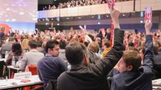 Auf dem SPD-Parteitag in Bonn haben sich 56 Prozent der Delegierten für Koalitionsverhandlungen mit der Union ausgesprochen. (Foto: dpa)