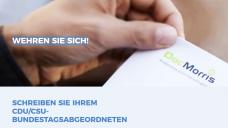 Wehren Sie sich! Die niederländische Versandapotheke DocMorris will die Pläne der Unionsfraktion mit dem Rx-Versandverbot nicht auf sich sitzen lassen und ruft seine Kunden auf, Unionsabgeordneten zu schreiben. (Screenshot: DAZ.online)