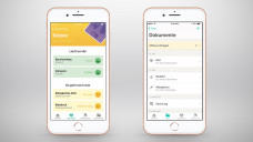 Über die App Vivy soll die gemeinsame Gesundheitsakte (rechts im Bild) verfügbar sein. Die App beinhaltet unter anderem einenGesundheits-Check. (Fotos: vivy.com)