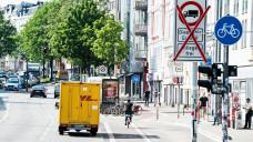 Betroffen von den Durchfahrtsbeschränkungen ist auch ein Abschnitt der Stresemannstraße. (Foto:Chris Emil Janssen / Imago)