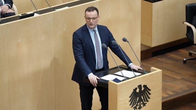 Bundesgesundheitsminister Jens Spahn warb heute im Bundesrat erneut für die Bundes-Notbremse(Foto: IMAGO / Political-Moments)